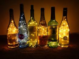 Upcycle wine bottles with lights! Keep reading to learn how.