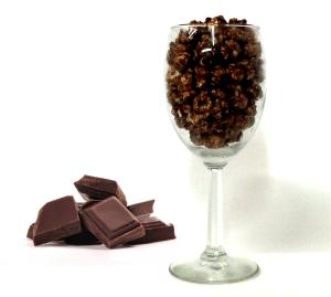 Decadent chocolate popcorn. That's right...I said chocolate popcorn.
