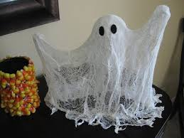 Cute cheesecloth ghosts.