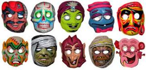 Vintage masks! remember when that plastic mask, with the rubber bands was the coolest thing ever (even though you felt like you were suffocating the entire time, and it fogged up so bad you couldn't see)?