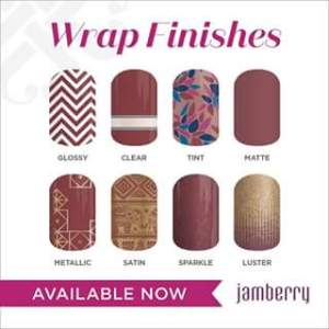 Even if you're not new to Jamberry, look at all the fantastic new finishes they're now offering,on select wraps.