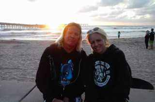 We got our sunset the night before we left. Some sweet girls on the beach took this.of us. We were married right behind where we're standing.