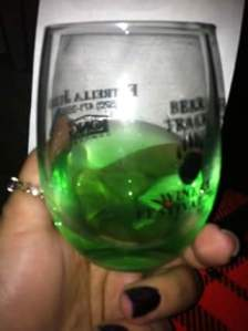 The green chili wine at Bear Tracks...made with Hatch, NM green chilies. They have a red pepper wine as well.