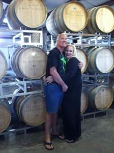 Craig and me at (local) Flying Leap Vinyards. They don't produce the sweeter wines we prefer, however the staff and facilities are amazing! This was a few years ago, three-ish maybe, inside the tasting room!