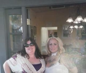 Me and my BFF, Amanda,  at our wedding reception. If you're in Tucson and want wine, Cata Vinos is the spot.