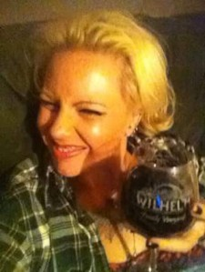 Me like wine!  Haha!  Enjoying at home, in my absolute favorite glass!
