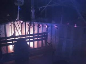 Halloween is a big deal in our house, and not just for makeup and costuming. Our deck, 2013 I believe.