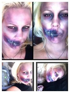 More zombie shots. By far one of my favorite 'I did this because I was bored' makeup looks to date.