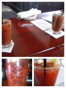 Bloodys at South Beach Bar and Grille, Johnny Ringos and Jimmy's Famous American Tavern (counter-clockwise from top).