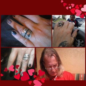 My rings, and the beautiful man who put them on me.