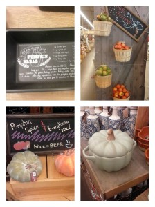 Some cute, pumpkin finds from Cost Plus; Craig actually saw the pumpkin bread tins before I did.
