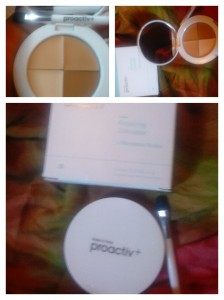 The Proactiv Repairing Concealer Quad, as I received it. Four beautiful, bendable shades to perfectly match any complexion.