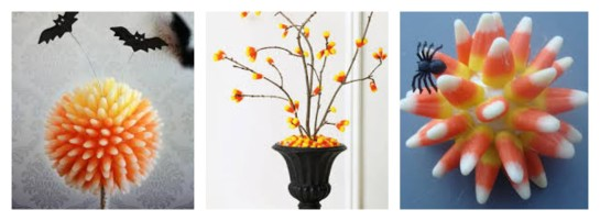 Candy corn adds a festive, and fashionable, touch to decor when done well.