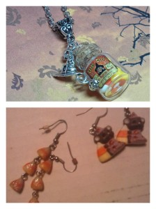 Top pic is an Etsy creation I'd love to have! Bottom, are some of my existing collection. Be shocked how many compliments I get on the candy corn dangles.