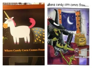 "No matter which you may find more appropriate as to the ""origin"" of Candy Corn,  it's usually a love/hate kind of deal."