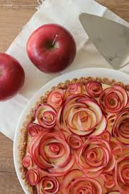 "Get the recipe, and apple rose tutorial, in our blog ""AN APPLE A DAY""."