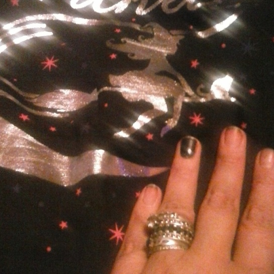 Shirt Craig got me, and my Halloween manicure.